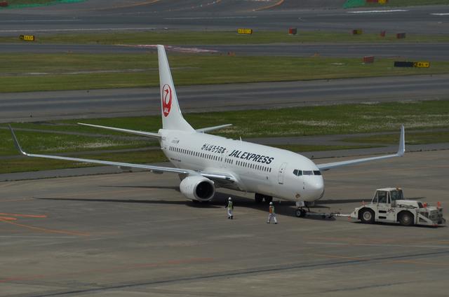 新鶴丸 B737 プッシュバック