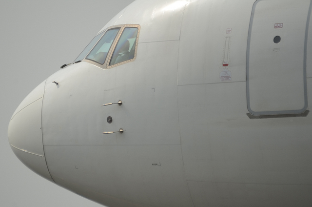 JAL B767 斜め後ろ顔