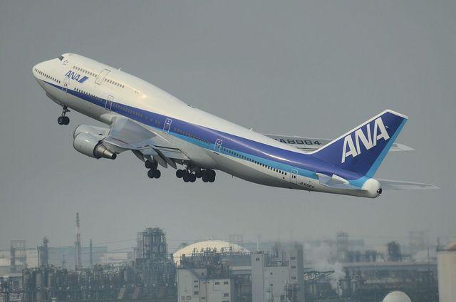 ANA B744 上昇
