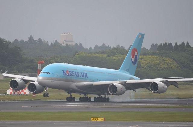 KE A380 Landing 1