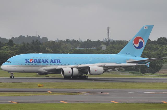 KE A380 Landing 3