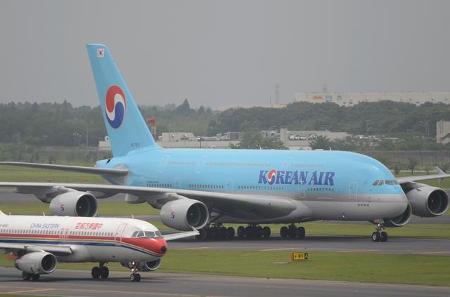 KE A380 Taxing 1