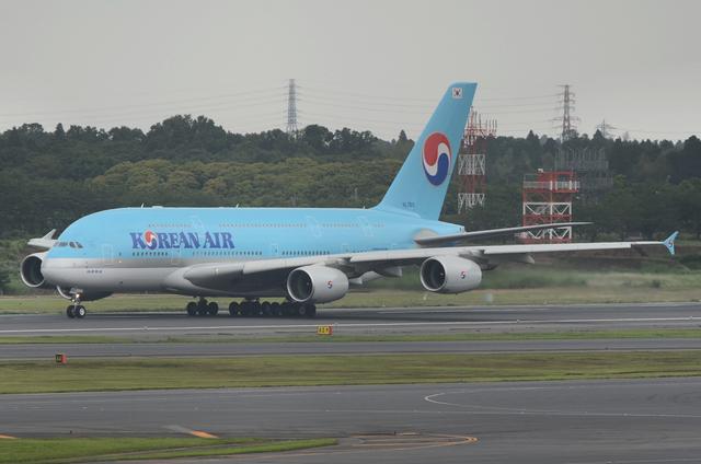 KE A380 Take Off 3
