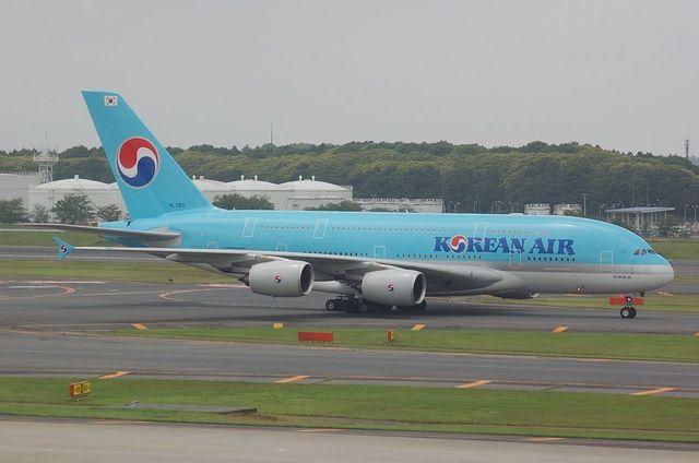 KE A380 Taxing 31