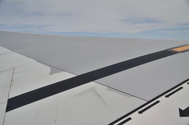 主翼の付け根付近に描かれた矢印
