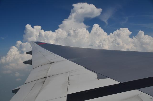 千葉県上空に積乱雲