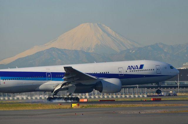 B777の富士山ランディング