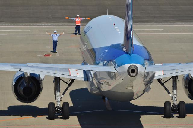 A320のスポットイン
