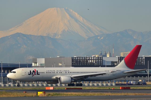 B767と富士山