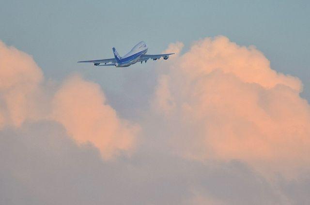 ANA B747 離陸