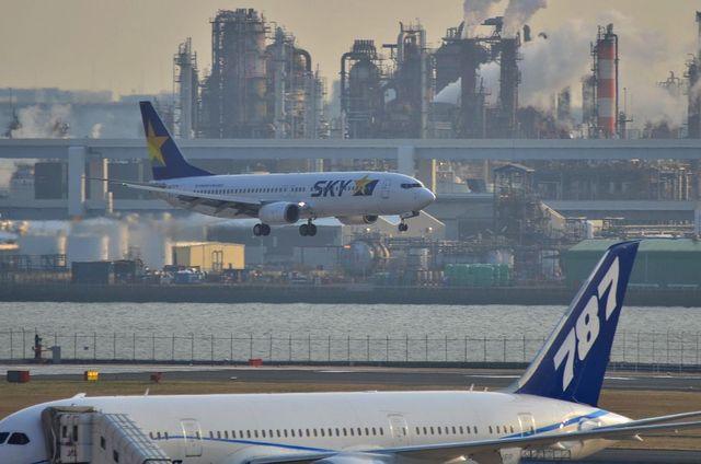 787とスカイマークのB737