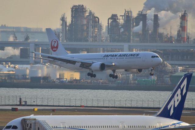 787とJAL新鶴丸767