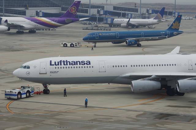 LH A340 Push Back