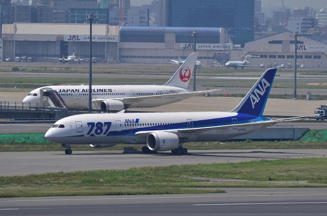 JALとANAの787
